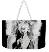 Singer And Actress Tina Turner  Weekender Tote Bag