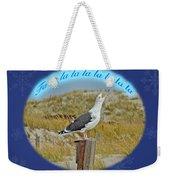 Singing Seagull Christmas Card Weekender Tote Bag