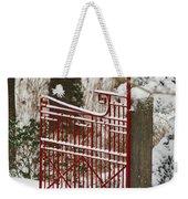 Single Red Gate Weekender Tote Bag