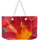 Single Red Lily 2 Weekender Tote Bag