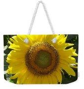 Single Sunflower Weekender Tote Bag