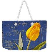 Single Yellow Tulip In Yellow Vase Weekender Tote Bag