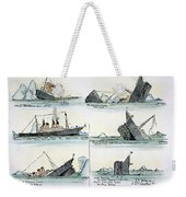 Sinking Of The Titanic Weekender Tote Bag