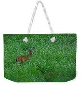 Six Point Deer In Wildflowers Weekender Tote Bag