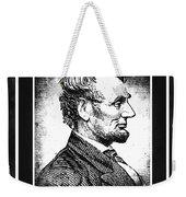 Sixteenth President Bw Weekender Tote Bag