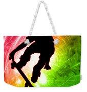 Skateboarder In A Psychedelic Cyclone Weekender Tote Bag