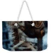 Skeleton In Gas Mask Weekender Tote Bag by Jill Battaglia