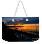 Skeloton Lake Sunset Hdr Weekender Tote Bag