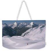 Skier Phil Atkinson Heads Down Mount Weekender Tote Bag