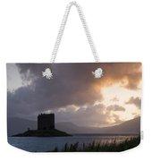 Skies Ablaze At Castle Stalker Weekender Tote Bag
