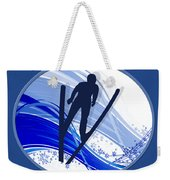 Skiing And Snowflakes Weekender Tote Bag