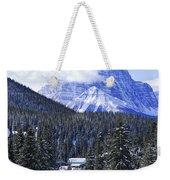 Skiing In Mountains Weekender Tote Bag by Elena Elisseeva