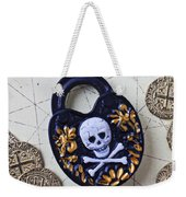 Skull And Cross Bones Lock Weekender Tote Bag
