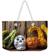 Skull And Jack-o-lantern Weekender Tote Bag
