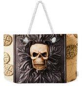 Skull Box With Skeleton Key Weekender Tote Bag
