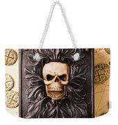 Skull Box With Skeleton Key Weekender Tote Bag