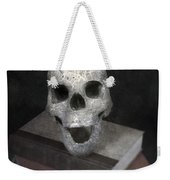 Skull On Books Weekender Tote Bag by Joana Kruse