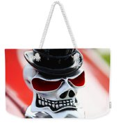 Skull With Top Hat Hood Ornament Weekender Tote Bag