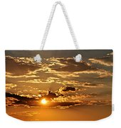 Sky Ablaze 1 Weekender Tote Bag by Marty Koch