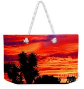 Morro Bay California Sky Fire Weekender Tote Bag