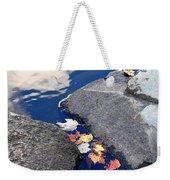 Sky Reflection Leaves And Rocks Weekender Tote Bag