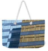 Sky Scraper Tall Building Abstract With Windows And Reflections No.0102 Weekender Tote Bag