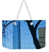 Sky Scraper Tall Building Abstract With Windows Tree And Reflections No.0066 Weekender Tote Bag