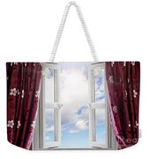 Sky View Through Open Window Weekender Tote Bag