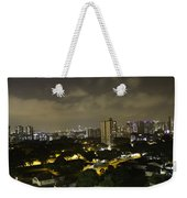 Skyline Of A Part Of Singapore At Night Weekender Tote Bag