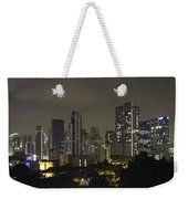 Skyline Of Singapore At Night As Seen From An Apartment Complex Weekender Tote Bag