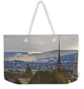 Skyline Of Zurich From The University Weekender Tote Bag
