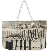 Slats Of Wooden Fence Throwing Shadows Weekender Tote Bag