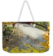 Slaughter House Bridge And Fall Colors Weekender Tote Bag