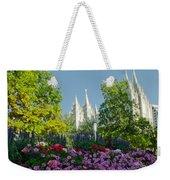Slc Temple Flowers Weekender Tote Bag