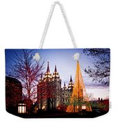 Slc Temple Tree Light Weekender Tote Bag