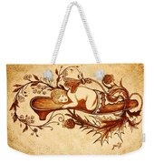 Sleeping Angel Original Coffee Painting Weekender Tote Bag