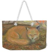 Sleeping Fox Weekender Tote Bag