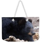 Sleepy Black Bear Weekender Tote Bag