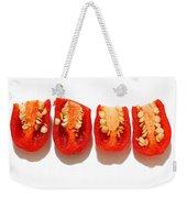 Sliced Red Peppers Weekender Tote Bag