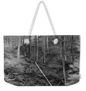 Slovenian Forest In Black And White Weekender Tote Bag