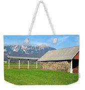 Slovenian Hayrack And Woodpile Weekender Tote Bag