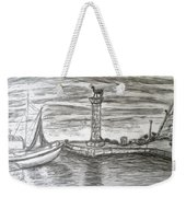 Small Boats At Rhodes Port Weekender Tote Bag