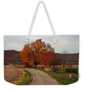 Small Country Road Weekender Tote Bag