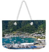 Small Idyllic Yacht Harbor  Weekender Tote Bag