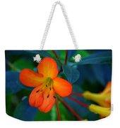 Small Orange Flower Weekender Tote Bag