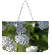 Small White Wildflowers  Weekender Tote Bag