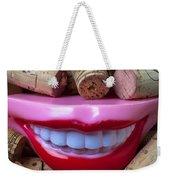Smile Among Wine Corks Weekender Tote Bag