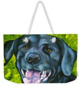 Smiling Lab Weekender Tote Bag