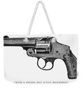 Smith & Wesson Revolver Weekender Tote Bag
