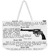 Smith & Wesson Revolvers Weekender Tote Bag